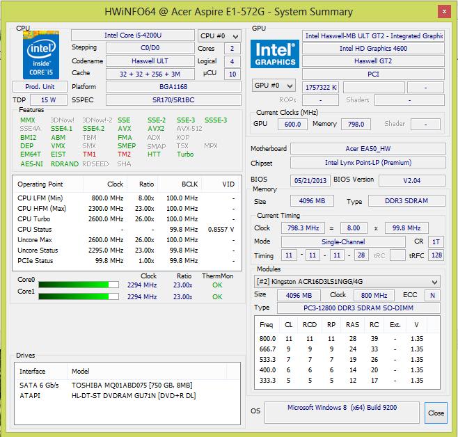 Review Acer Aspire E1 572G 54204G75Mnkk Notebook
