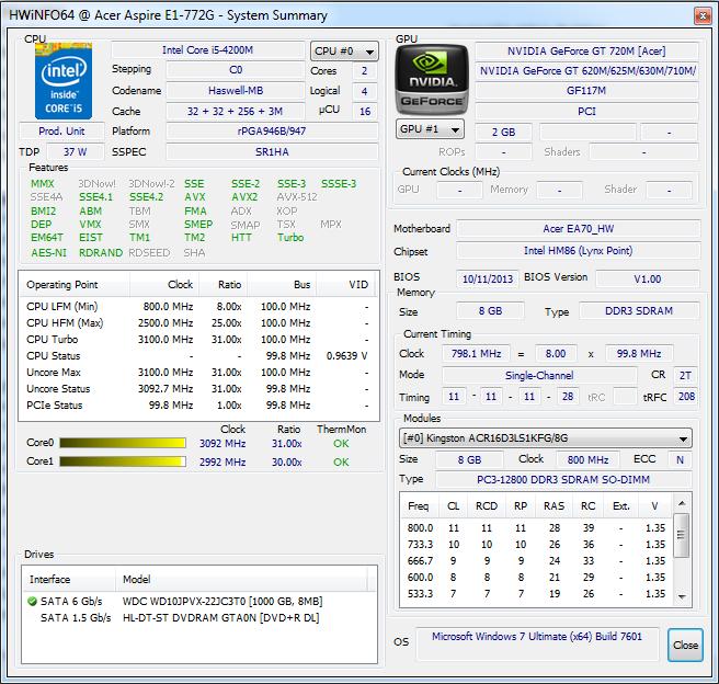 Review Acer Aspire E1-772G 54208G1TMnsk Notebook