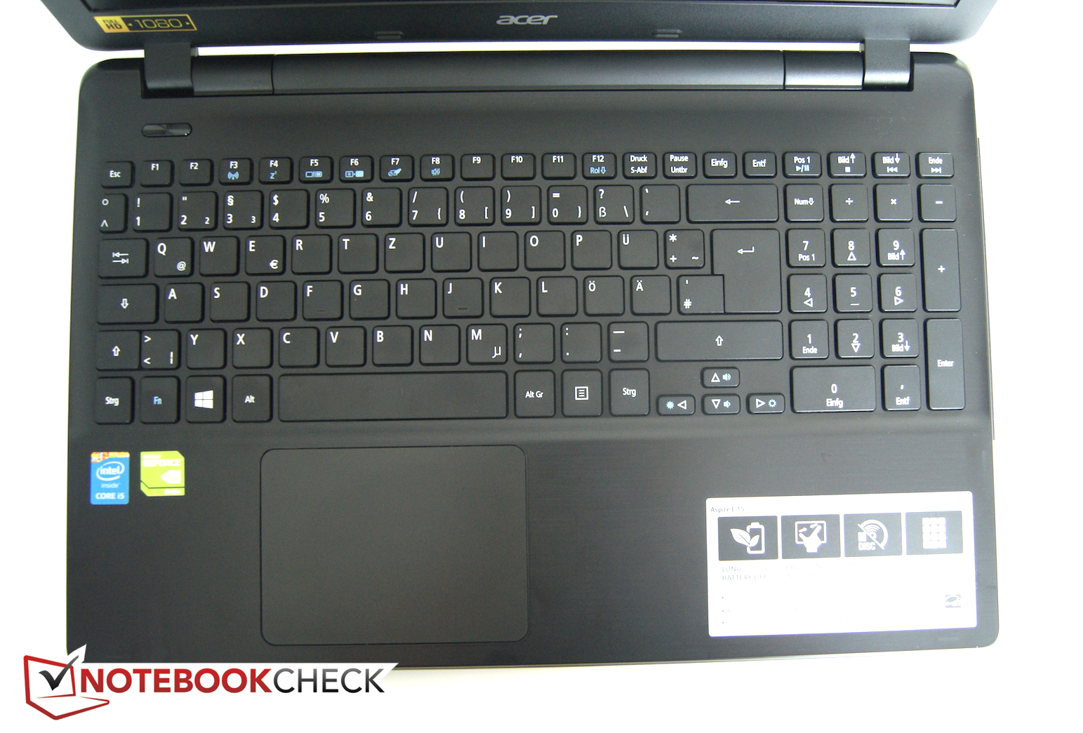 Acer Aspire E5-571G Notebook Review Update - NotebookCheck.net Reviews 107d83213b