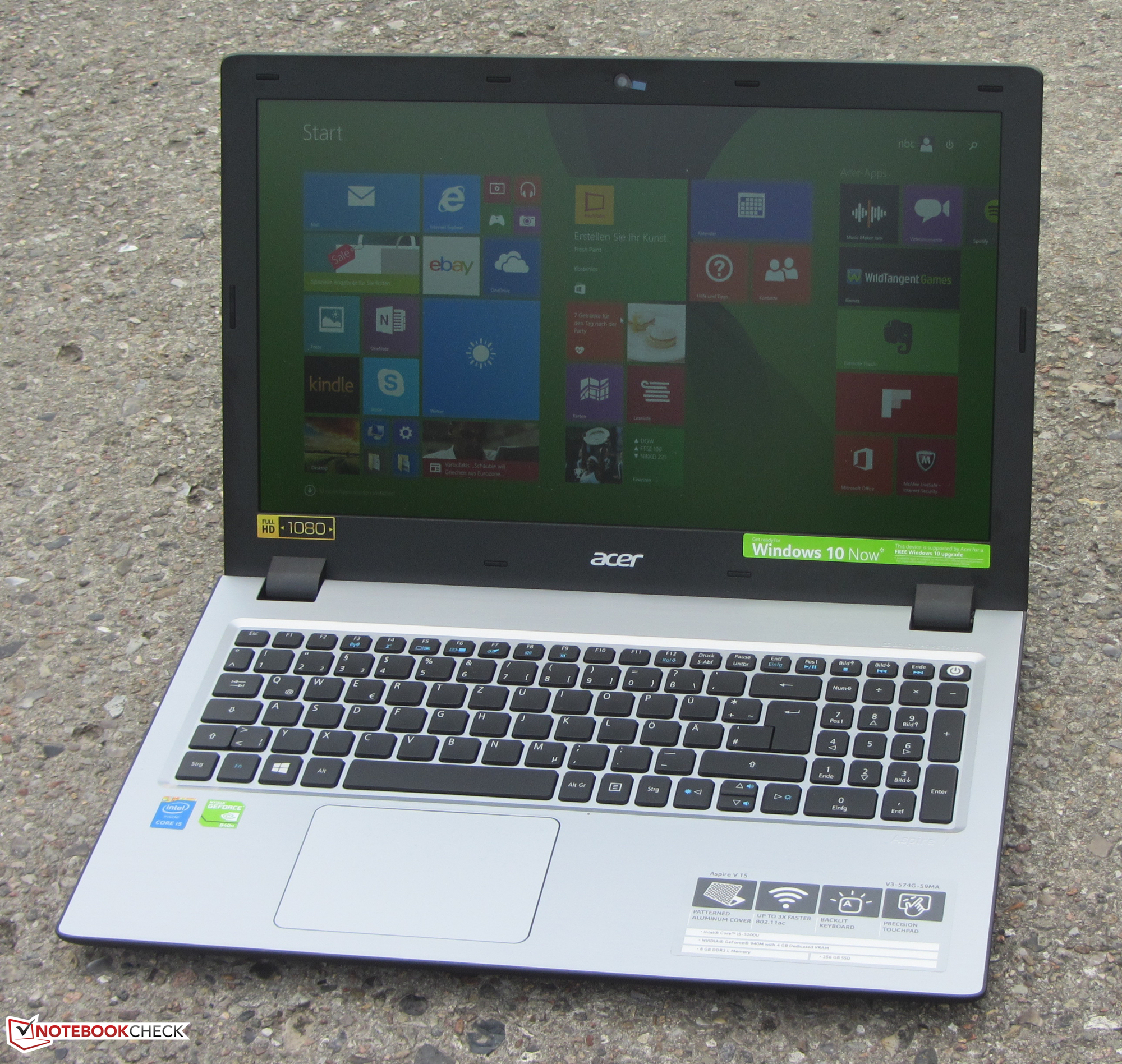 Acer Aspire V3-574G Notebook Review - NotebookCheck.net