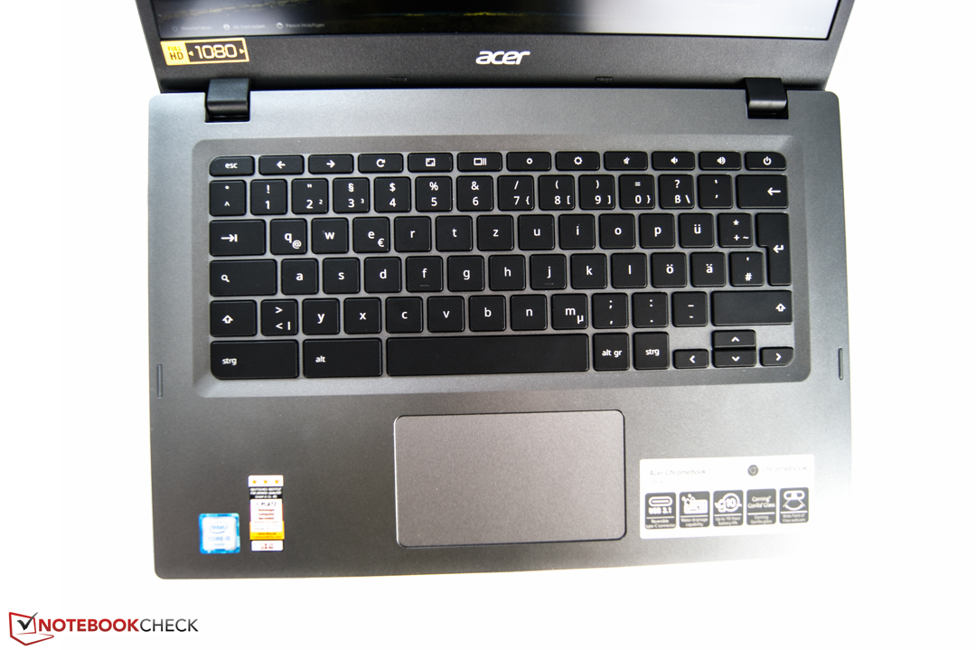 Acer Chromebook 14 for Work (i5 6200U, 8 GB) Review - NotebookCheck