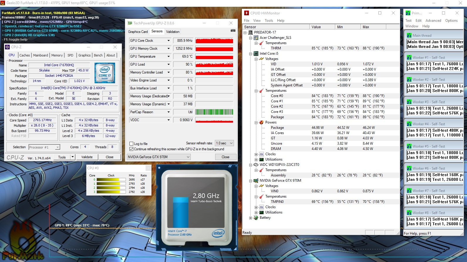 Overclocking in progress    Predator 17 (G9-791) — Acer