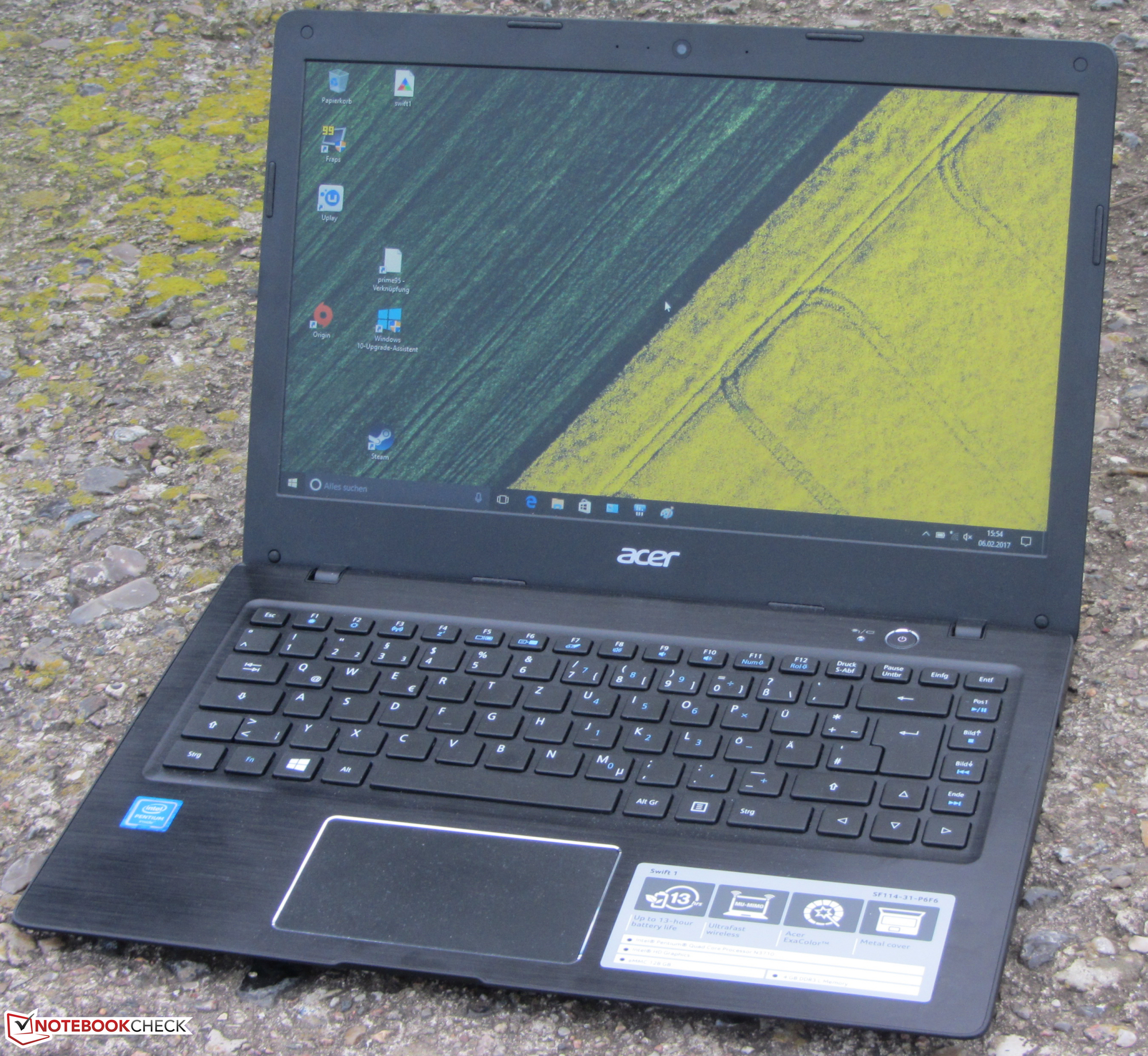 Acer Swift 1 Sf114 31 P6f6 Notebook Review Notebookcheck