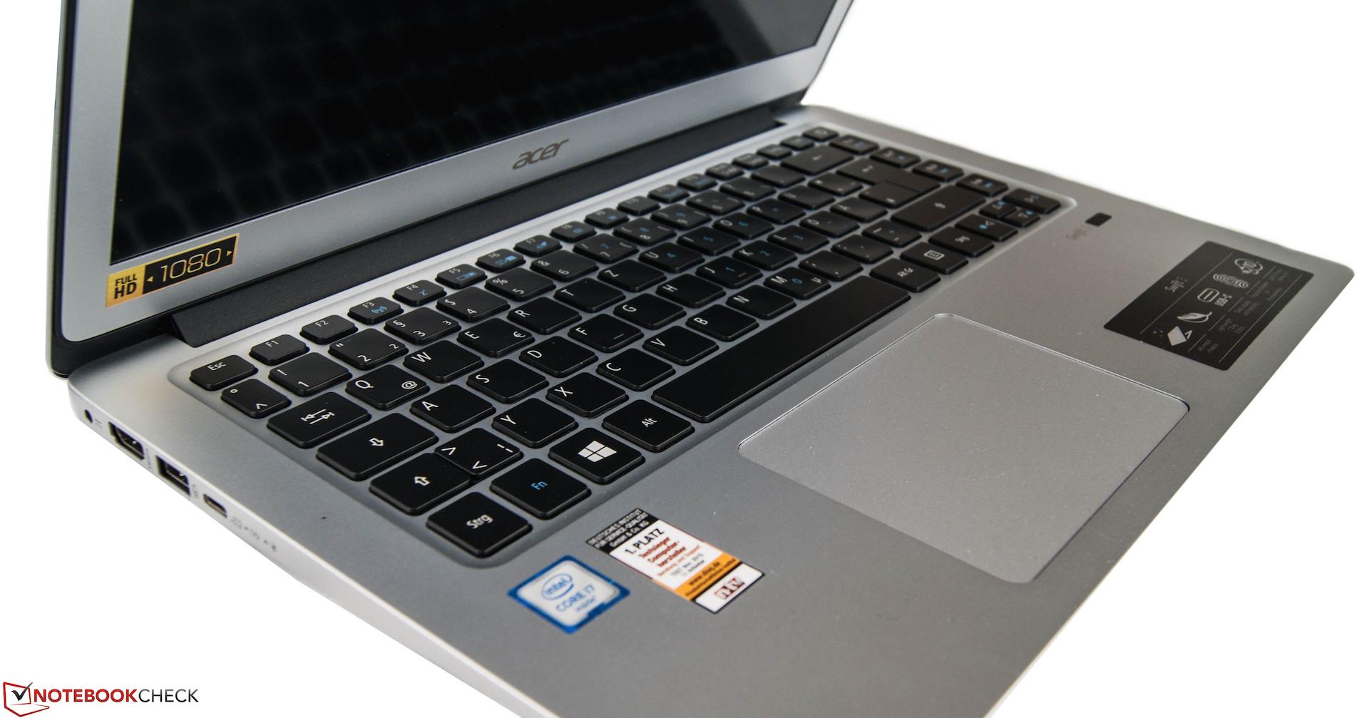 Acer Swift 3 SF314-51-731X Notebook Review - NotebookCheck.net Reviews