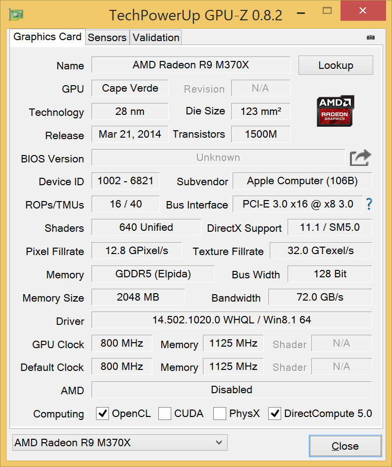 AMD RADEON R9 M390 WINDOWS 8 DRIVER
