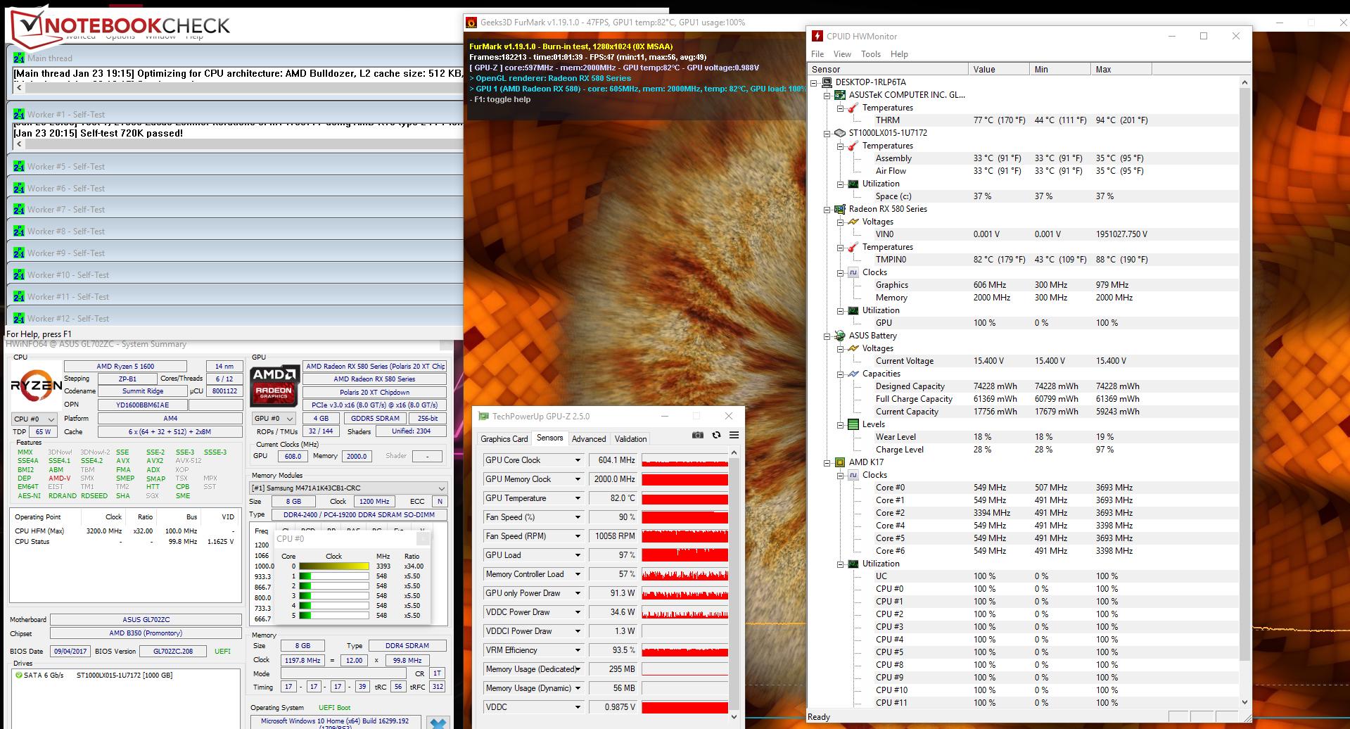 Asus ROG Strix GL702ZC (Ryzen 5 1600, Radeon RX 580, FHD