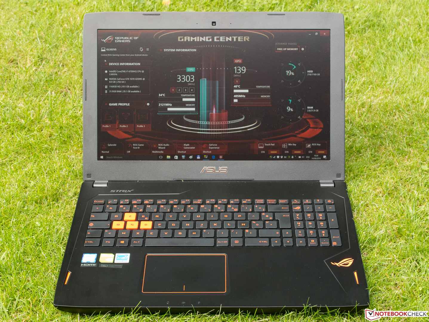 Asus Rog Strix Gl502vs Notebook Review Notebookcheck Net