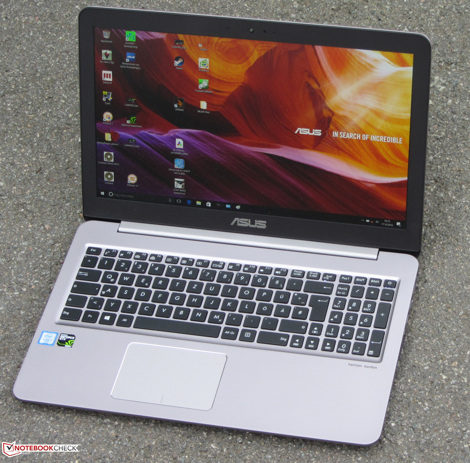 Review of the budget multimedia notebook ASUS X756UQ-TY366T