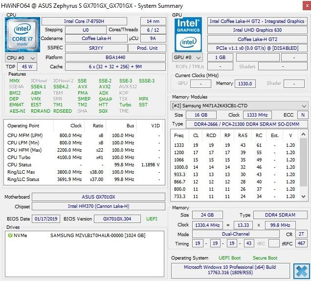 MSI GS75 vs  Asus Zephyrus S GX701: 10 percent performance