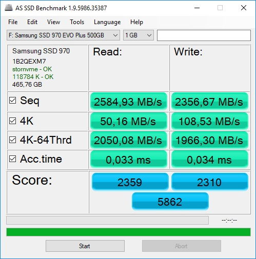 Samsung 970 Evo Plus SSD (NVMe, M 2) Review - NotebookCheck