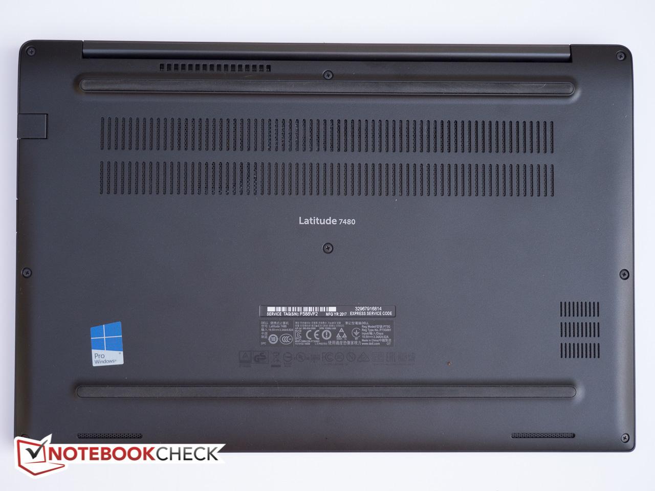 Dell Latitude 7480 (7600U, FHD) Laptop Review - NotebookCheck net