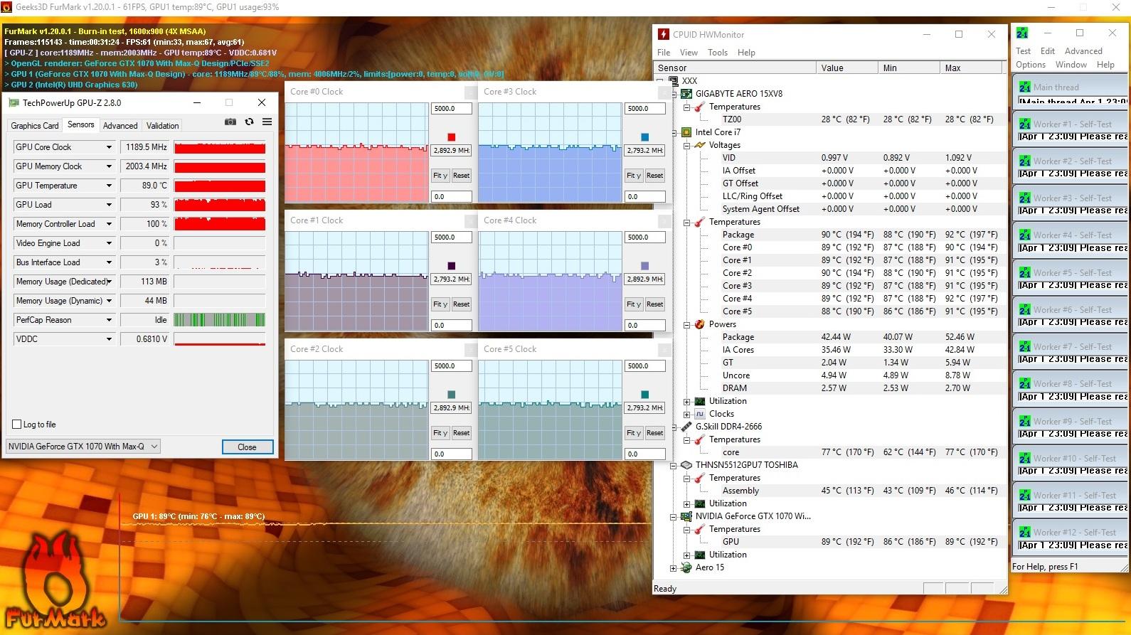 Eurocom Q6 Review (I7-8750H, GTX 1070 Max-Q, Clevo P955ER)