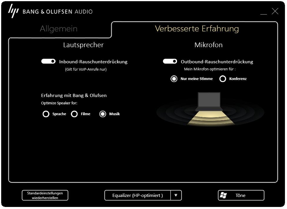 phần mềm nghe nhạc HP EliteBook 840 G5