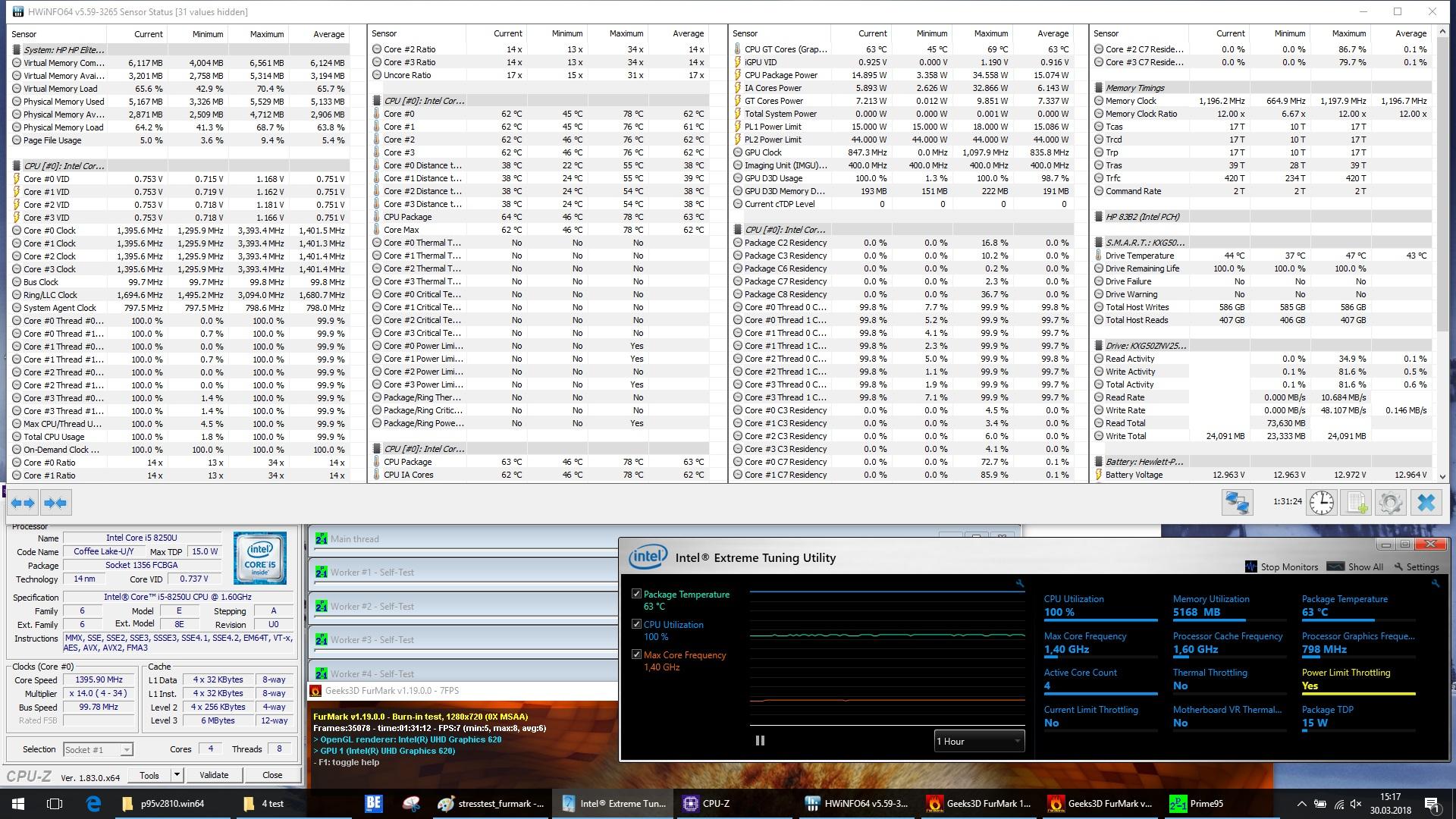 nhiệt độ HP EliteBook 840 G5