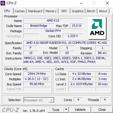 Bristol Ridge in Review: AMDs A10-9600P Against the