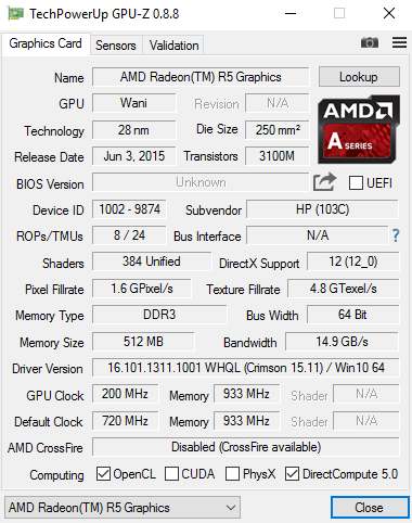 NEW DRIVERS: AMD A-SERIES AMD RADEON R5