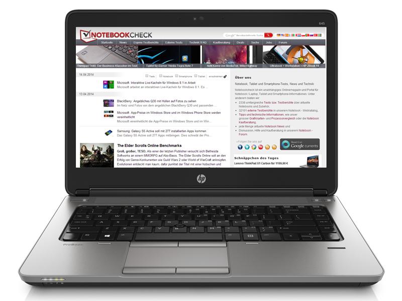 Review HP ProBook 645 G1 Notebook - NotebookCheck.net Reviews