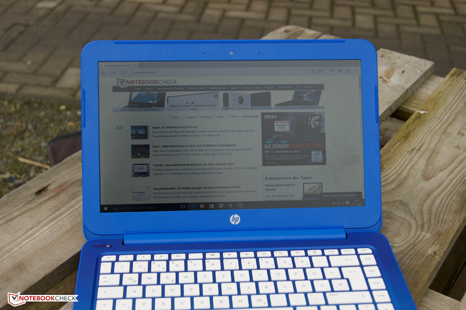 HP Stream 13-c102ng Notebook Review - NotebookCheck net Reviews