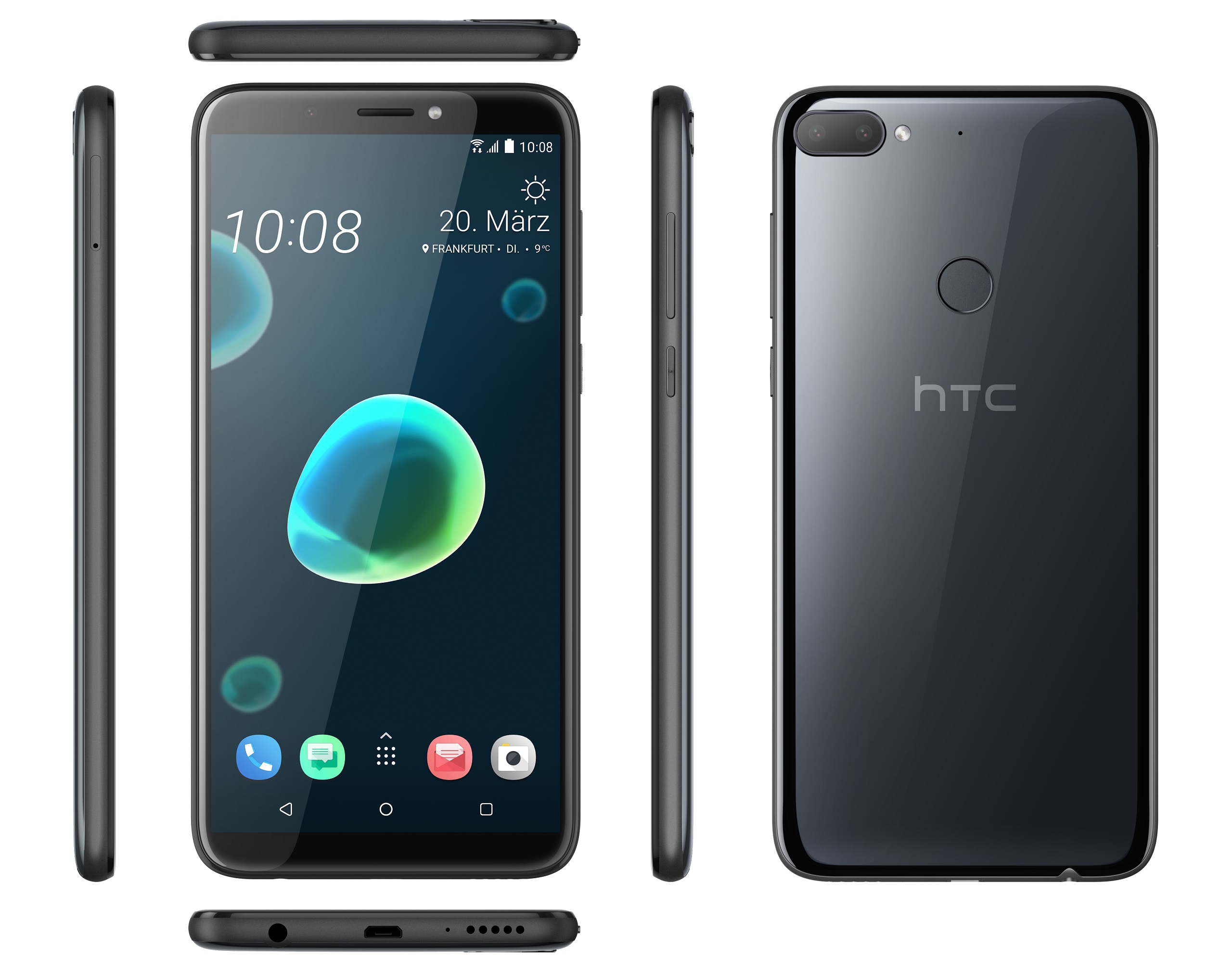 The HTC Desire 12 Plus Has Two Speakers One Is On Underside Of Device And Other Above Display Full Resolution