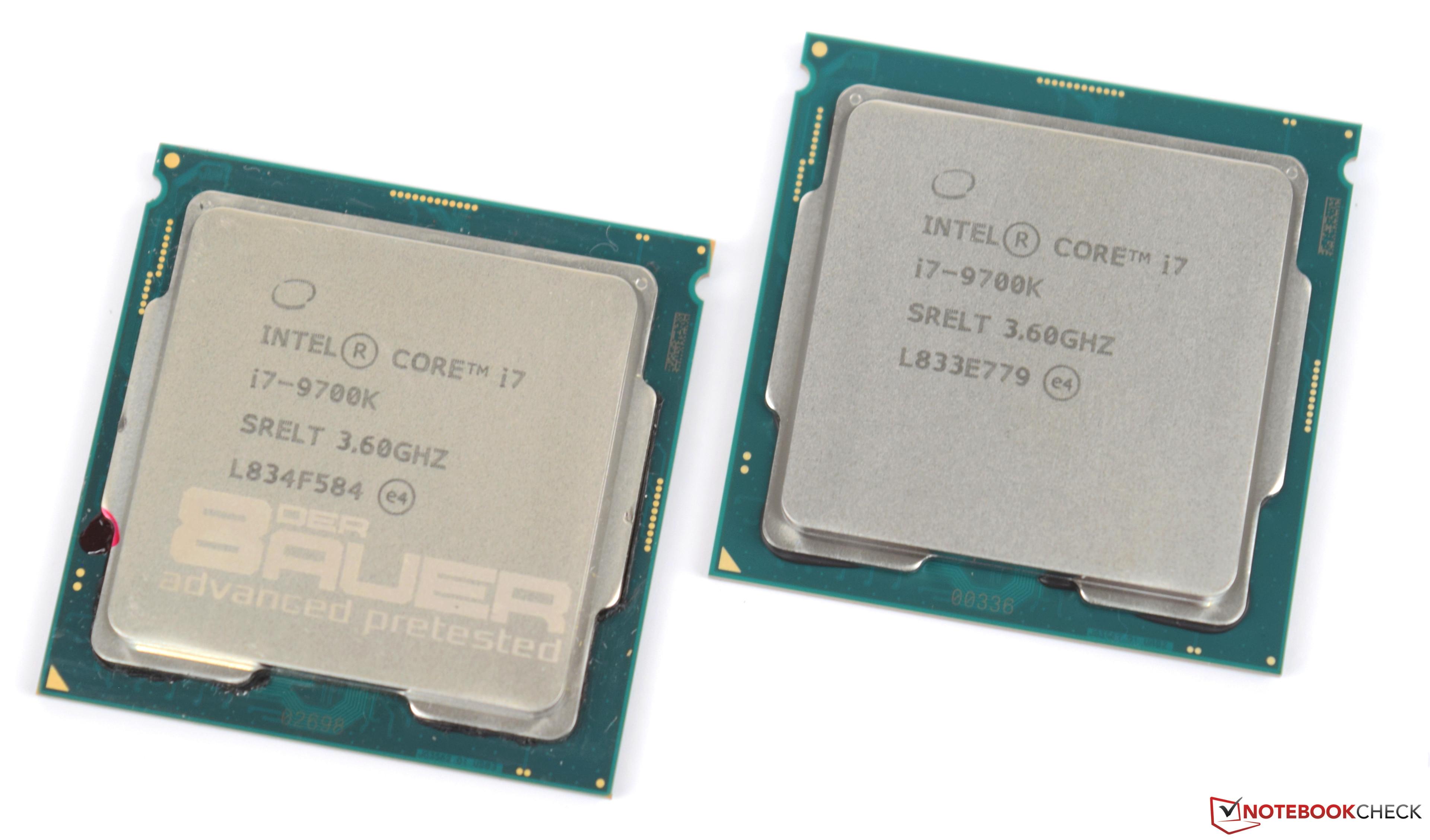 Intel Core i7-9700K Desktop CPU Review - NotebookCheck net