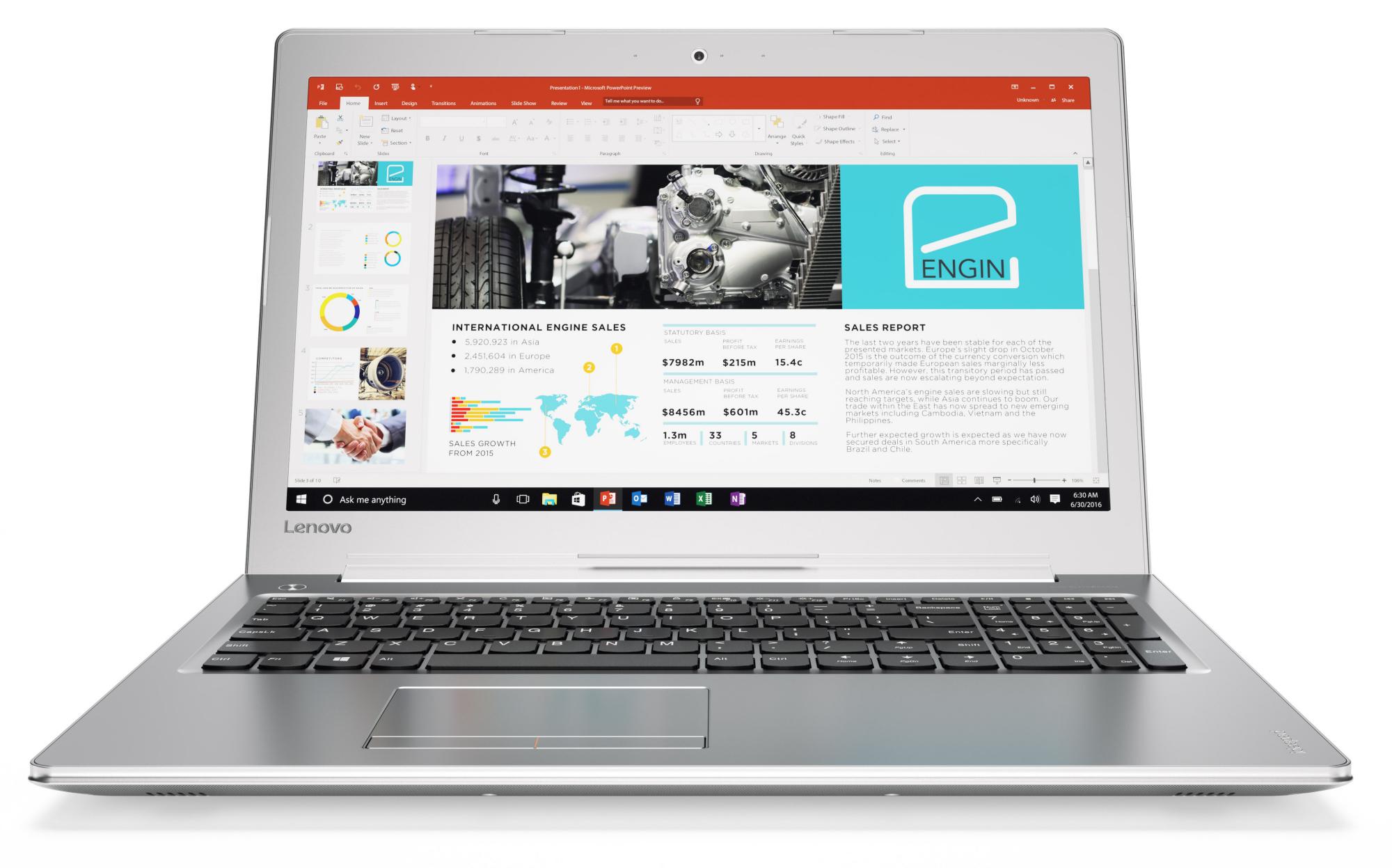 Lenovo IdeaPad 510-15IKB Notebook Review - NotebookCheck net