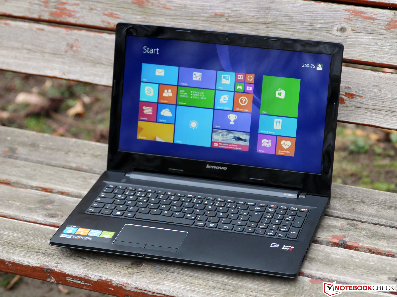 Lenovo IdeaPad Z50 75 Notebook A10 7300 Review Update