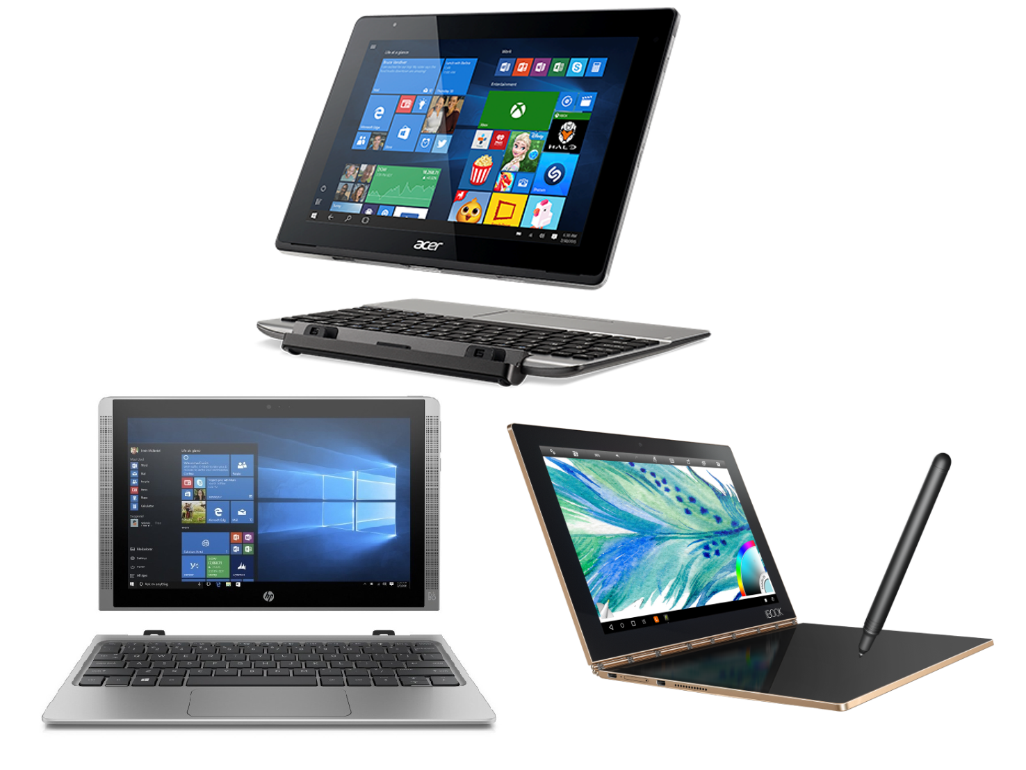 Face Off: Lenovo Yoga Book vs. Acer Aspire Switch vs. HP ...