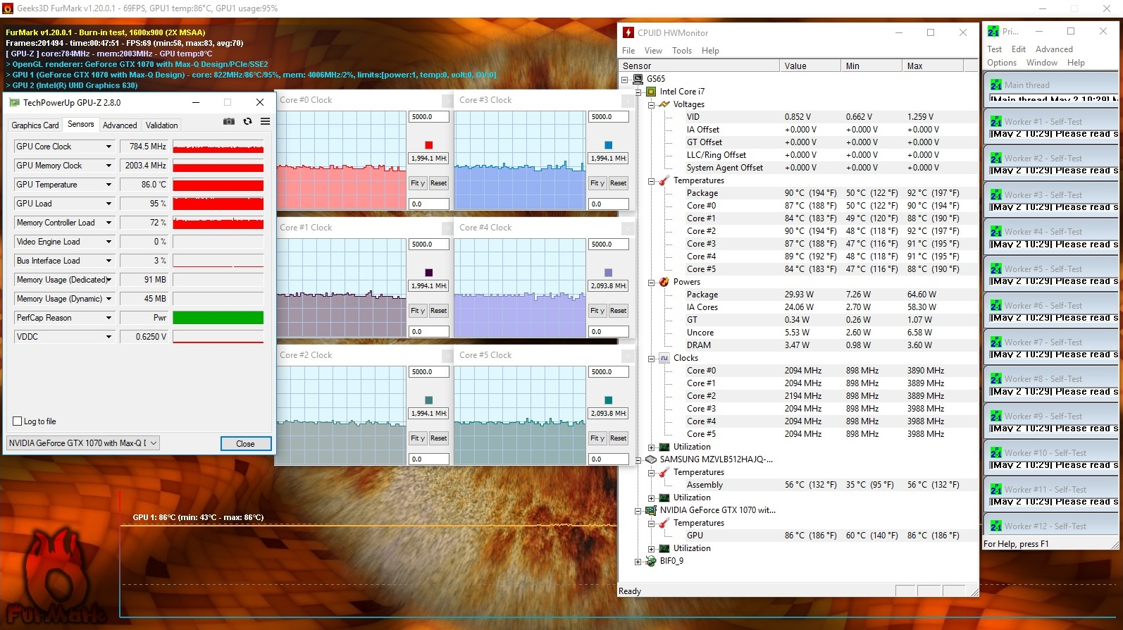 My GS65 temps are they too hot? - laptops