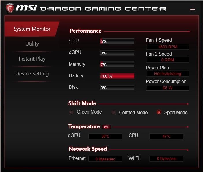 Dragon Gaming Center and MSI Dragon Center