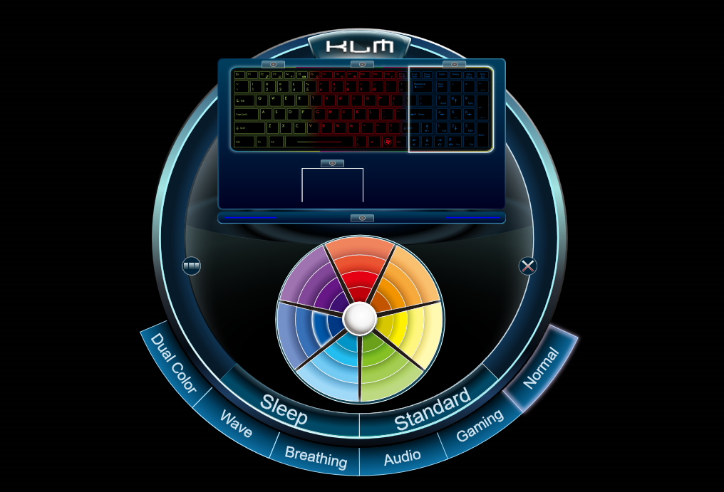 how to change msi keyboard color