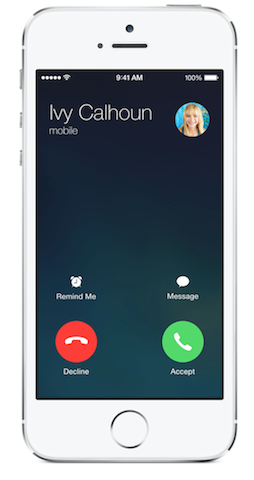 Incoming Call Interface in iOS 7.1