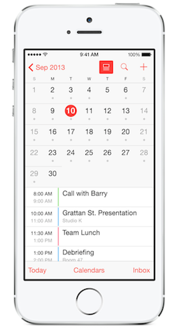Calendar Application in iOS 7.1