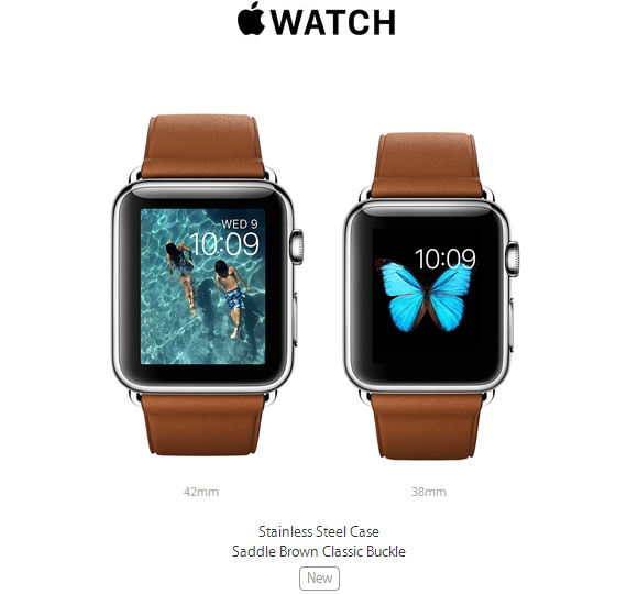 7d0969cf0 ... Saddle Brown Classic Buckle New Apple Watch option. Gold and rose gold  aluminum Watch Sport ...