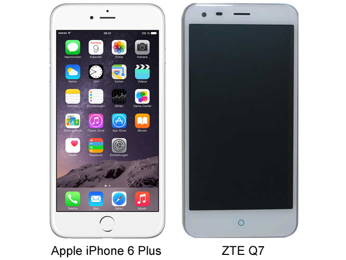 Zte Q7 An Apple Iphone 6 Plus Clone From China