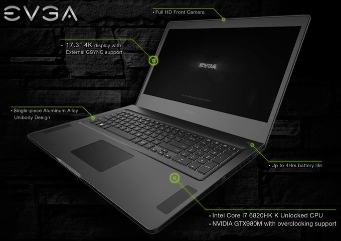 EVGA announces SC17 4K gaming laptop - NotebookCheck.net News