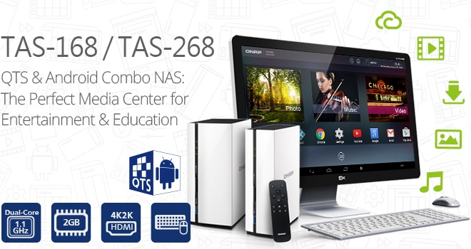 QNAP launches QTS-Android combo NAS TAS-168/268