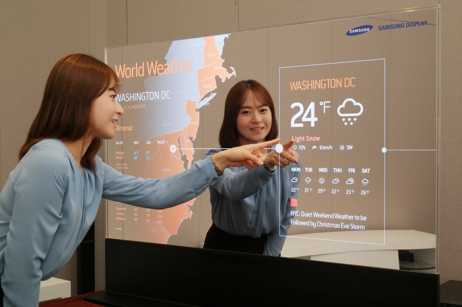 Samsung touts transparent and mirror oled displays for Mirror screen