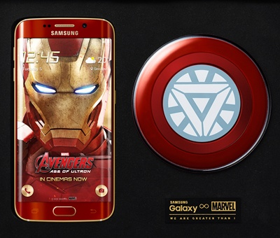 Samsung galaxy s6 edge iron man limited edition officially.