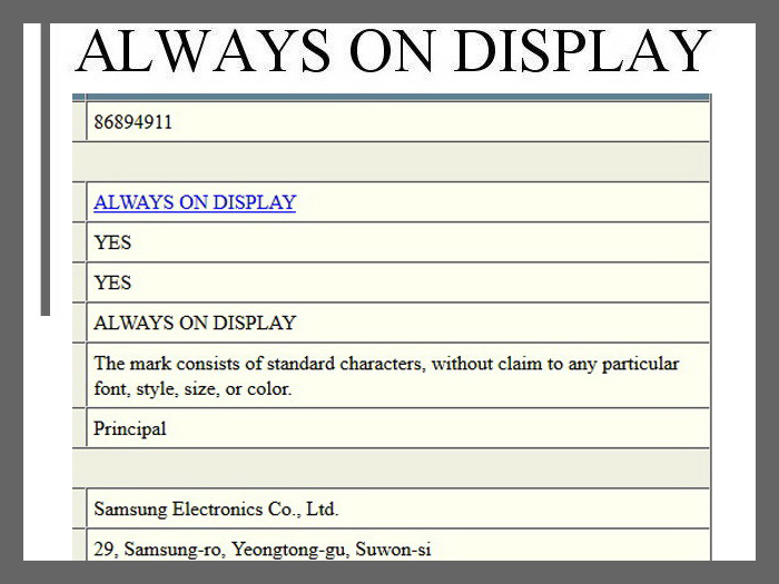 Samsung files trademark request for always-on displays - NotebookCheck.net News