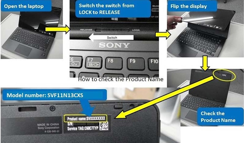 sony vaio model from serial number