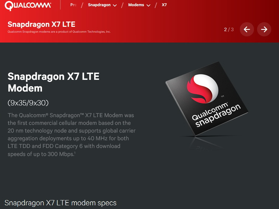 Qualcomm announces Snapdragon X12, X7, and X5 LTE modems for Windows