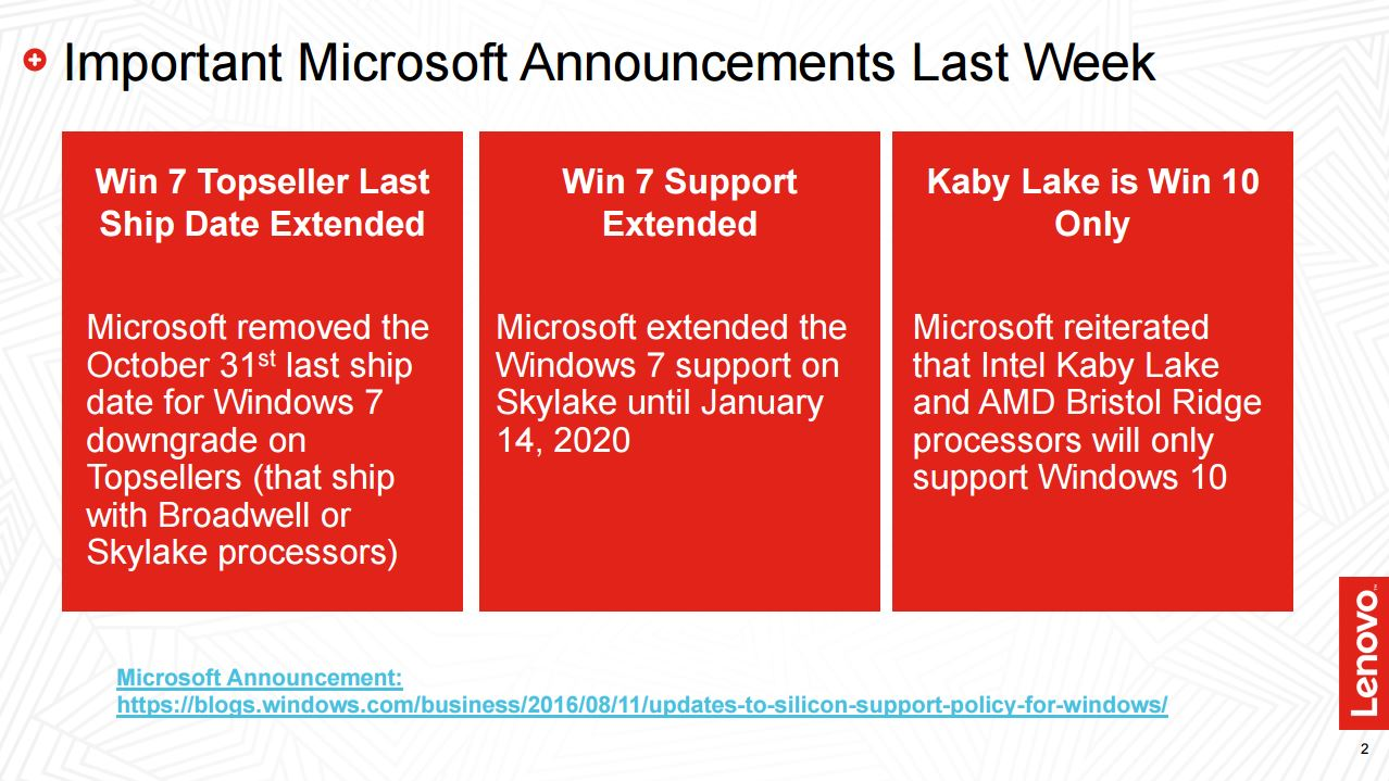 Microsoft: Windows 7 remains on sale in 2017 - NotebookCheck