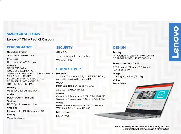 Lenovo: Updated ThinkPad X1 familiy announced (X1 Carbon, X1