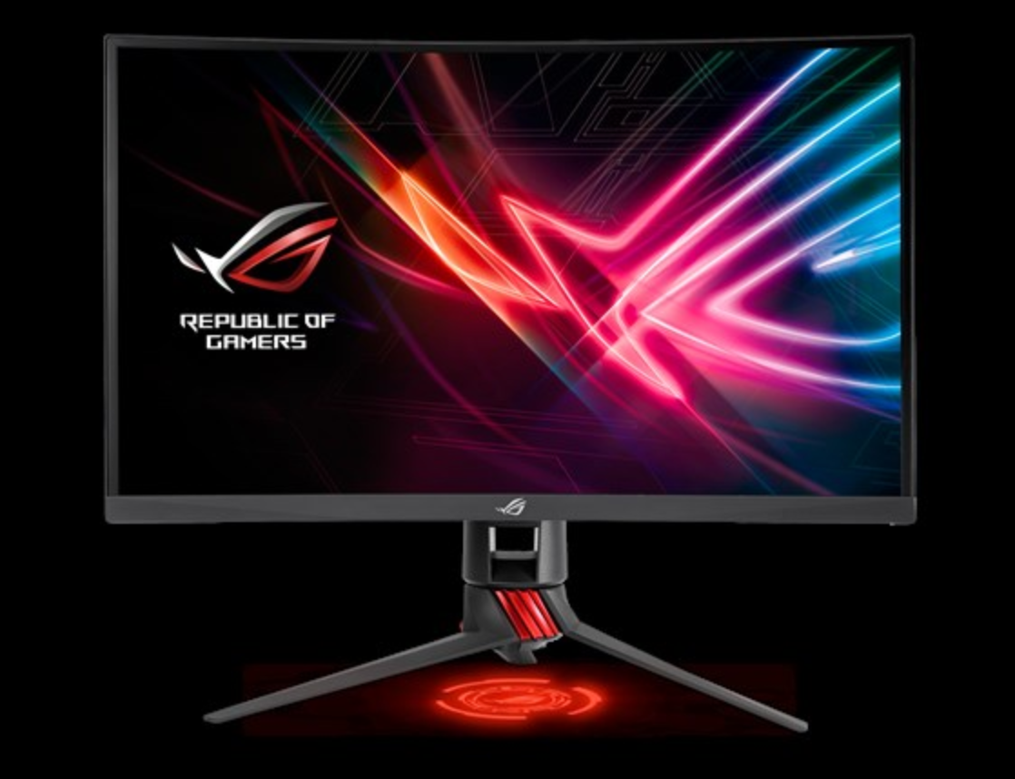 Asus' new 27-inch monitor brings curves and 144 Hz refresh