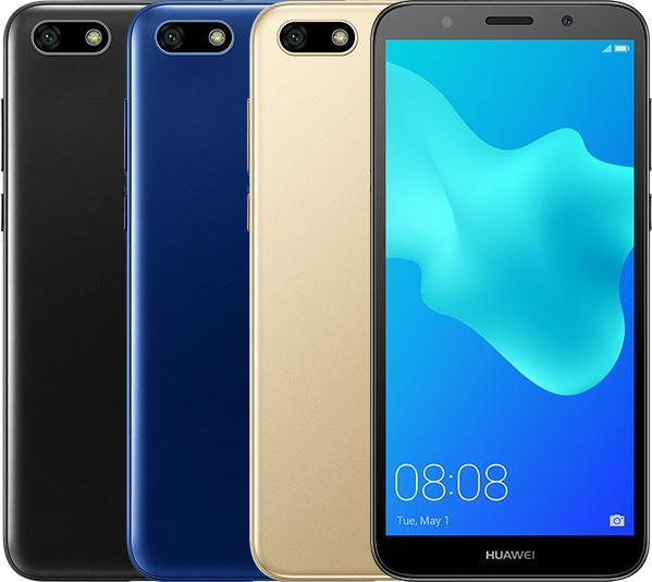 Huawei Y5 prime (2018) showing available colours. (Source: Huawei)