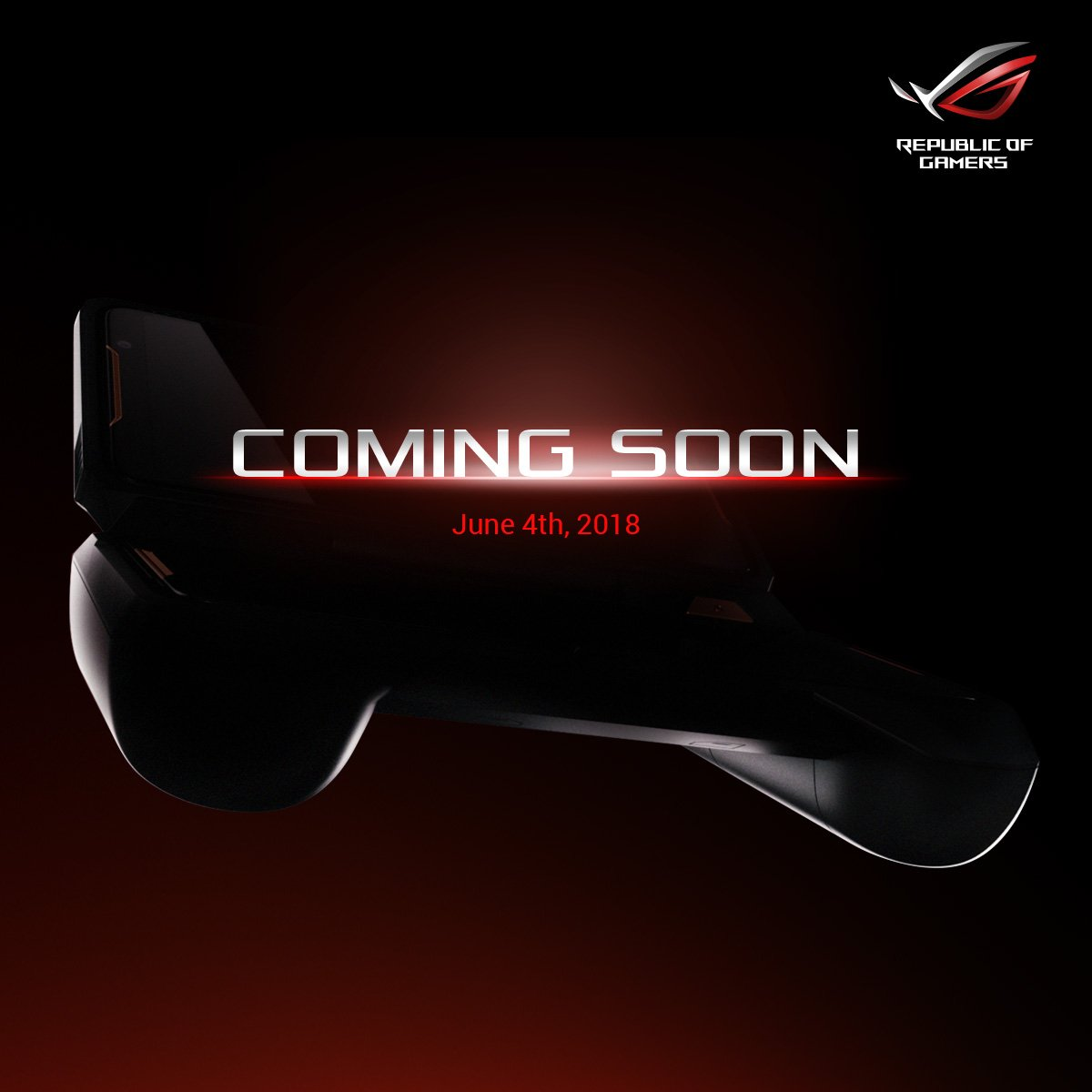 asus rog tweets image suggesting a gaming phone to compete against