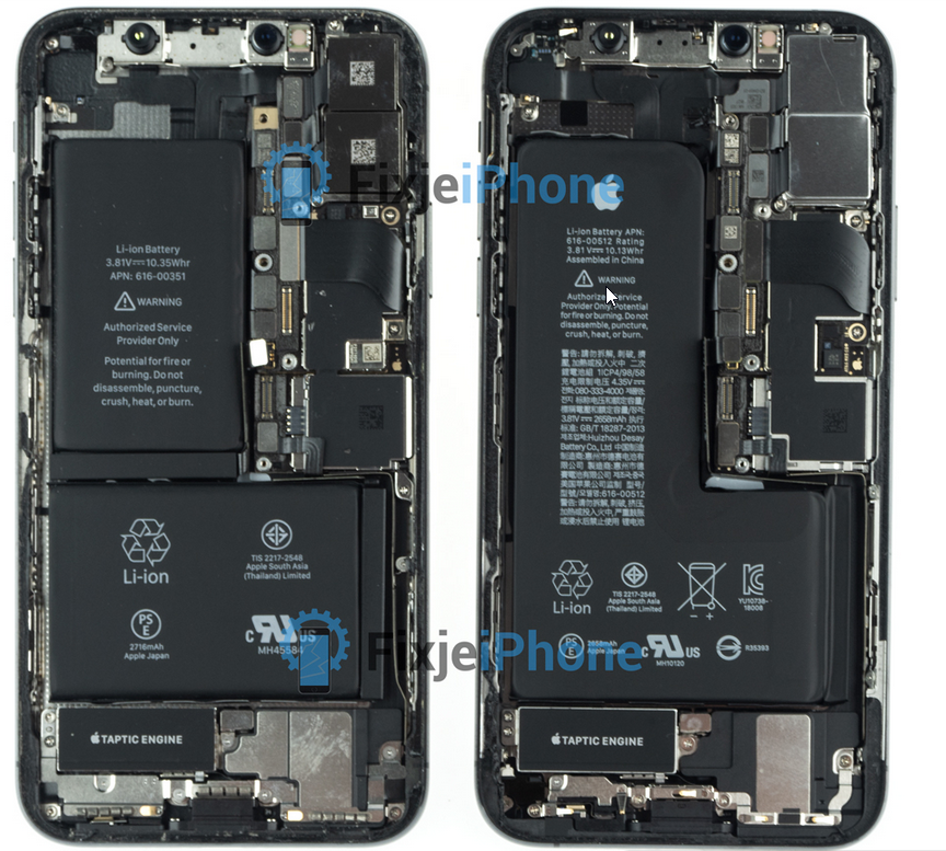 lowest price 506e0 a6fae The iPhone XS has a smaller battery capacity than the iPhone X ...