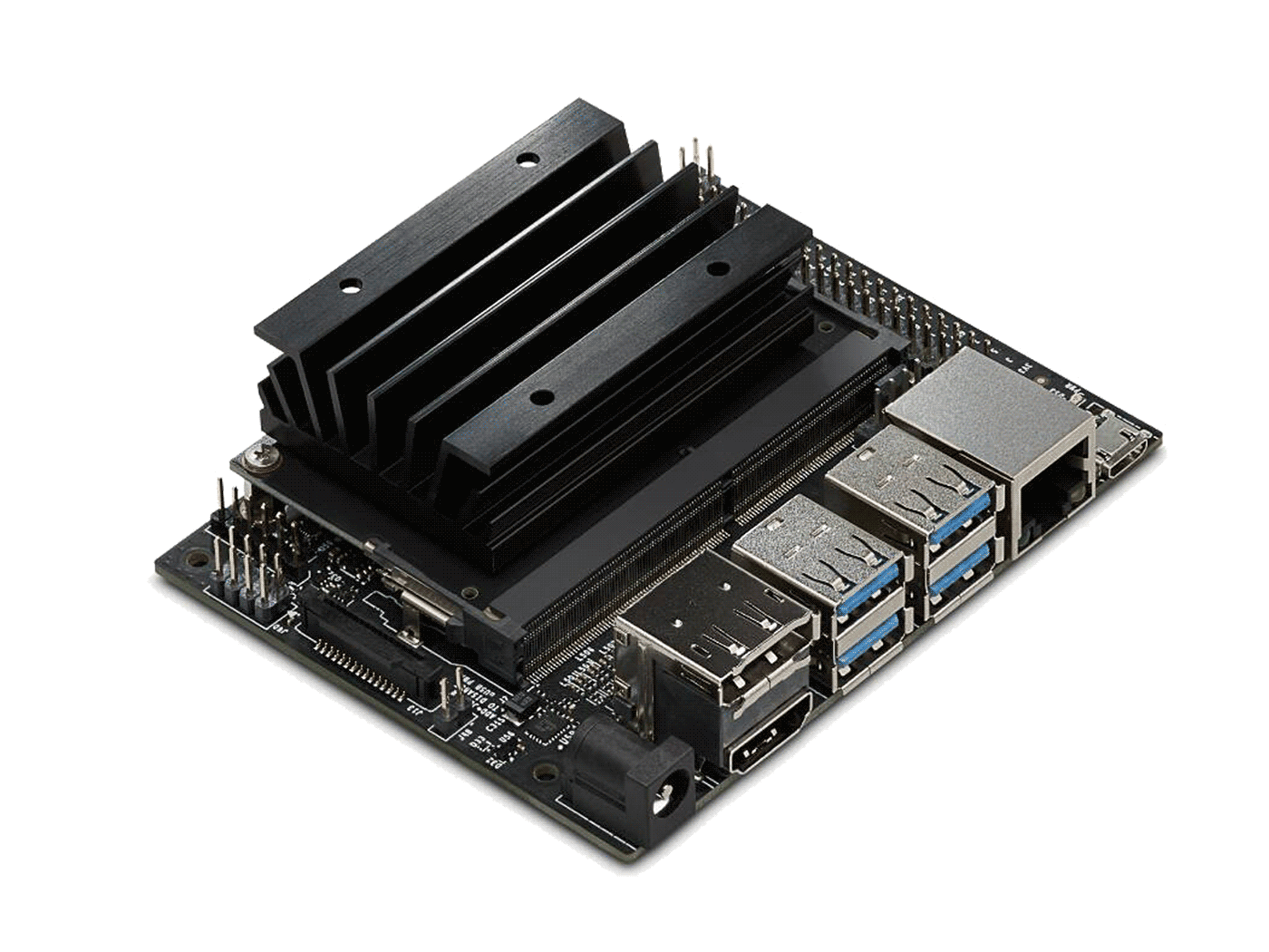 The NVIDIA Jetson Nano Developer Kit, a powerful SBC smaller