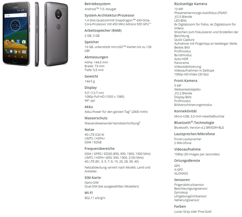 Motorola unveils mainstream Moto G5 and G5 Plus ...