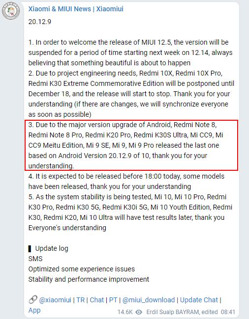 android 11 miui 12 list